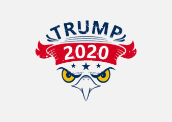Trump 2020 Re-election T-Shirt Design with American Eagle