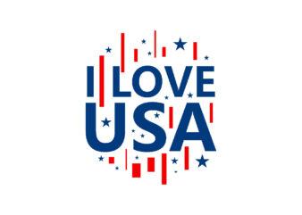 I love USA T-shirt design slogan EPS SVG PNG
