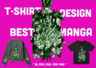 Artwork Anime – Manga Hero Battle – Legend – Tshirt Design!
