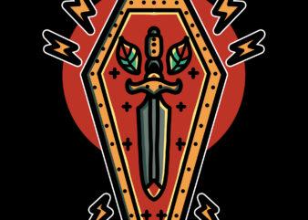 dagger coffin tshirt design