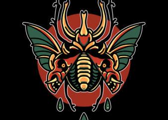 devil beetle tshirt design for sale