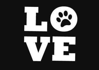 Dog love Tshirt Design