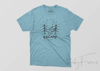 Escape Camp T shirt design for sale