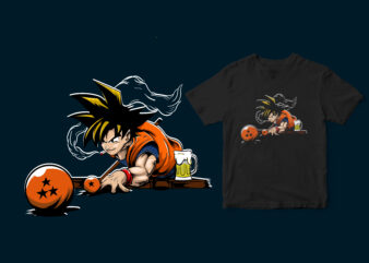 goku super saiyan is playing billiards, dragonballz