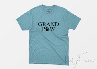 GranPaw | Dog Lover T Shirt Design for sale