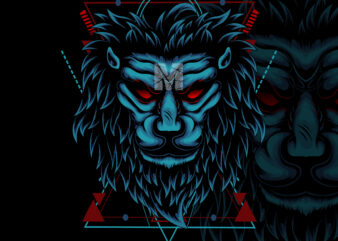 lion geometric