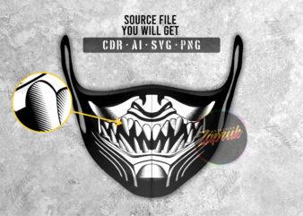 Scorpion illustration face mask tshirt design for sale