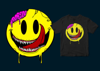 monster laugh icon, funny design for streetwear