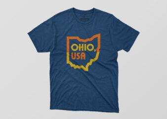 Ohio USA Tshirt Design