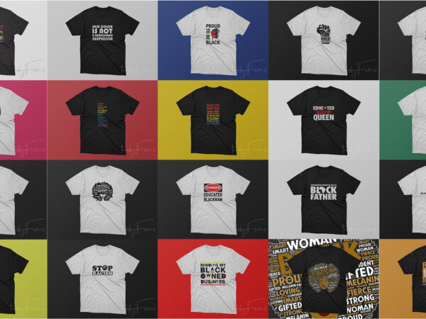 Pack of 20 Top selling T shirts for Black Lives Matter | Black People | African American People