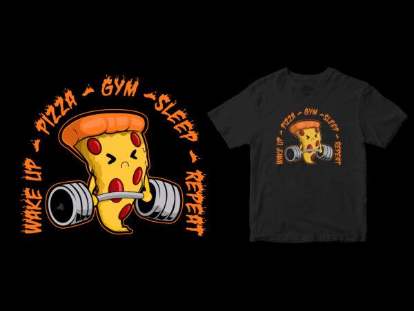 daily pizza lovers pop cartoon design