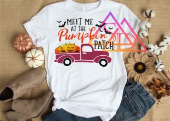 Halloween Pumpkin Meet me at the Pumpkin Patch Car Tshirt PNG PSD