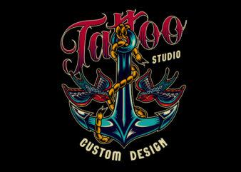 Anchor Tattoo Design Art