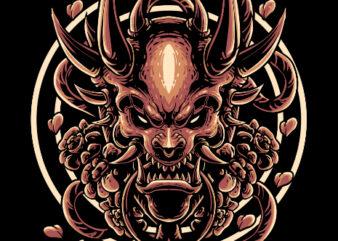 demon graphic t-shirt design
