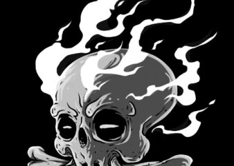 skull head graphic t shirt