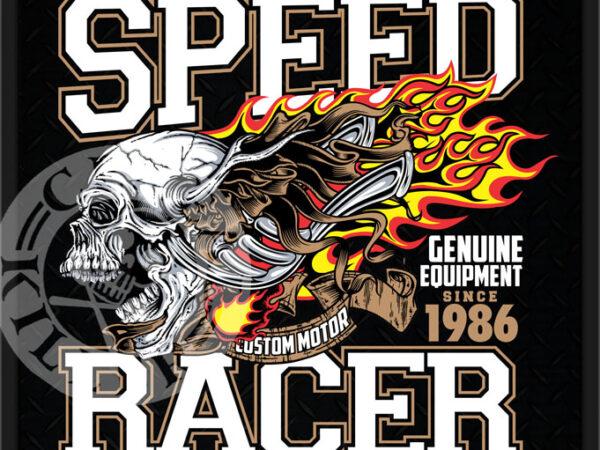 SPEED RACER t shirt template vector