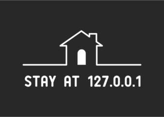 stay at home tshirt design