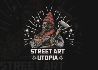 Street art battle T-shirt design