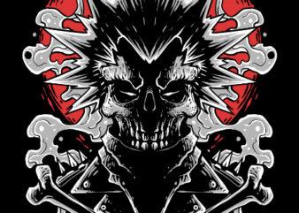 punk rock graphic t-shirt design