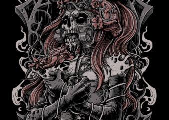 Cursed Bride t-shirt design