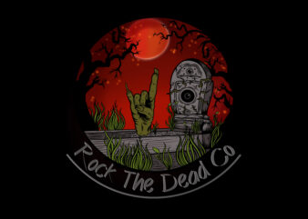 Horror rock T-shirt Design