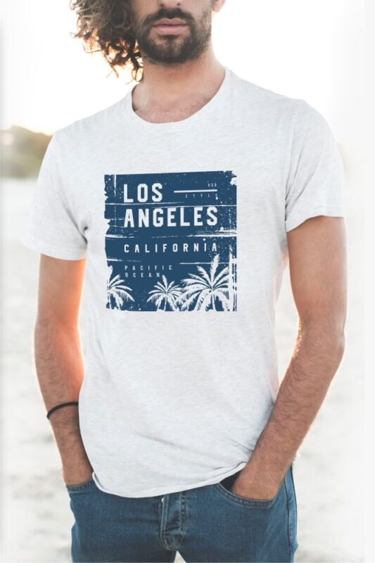 60 Surf Tropical Paradise T-shirt Design Bundle. Surfing Beach and Travel Tee Shirt Pack. California, Los Angeles, Miami, Florida, Hawaii Surf Rider Club. Eps Svg Png