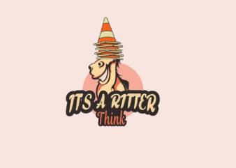 Donkey Cartoon cute T-shirt Design