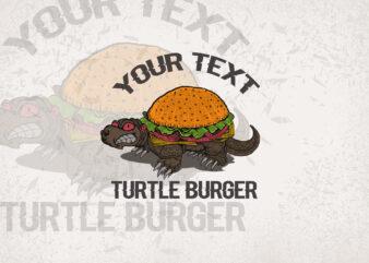 Burgers Turle T-shirt Design