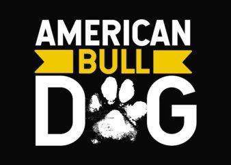 American Bulldog T-shirt Design