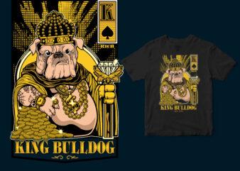 King Bulldog, Hustle T-shirt design