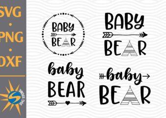 Baby Bear SVG, PNG, DXF Digital Files