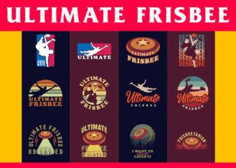 Bundle of 12 Ultimate Frisbee Designs
