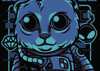 Astro Style Cat T-Shirt Design