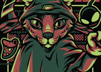 Reaper Style Cat T-Shirt Design