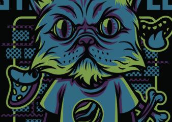Street Style Cats T-Shirt Design