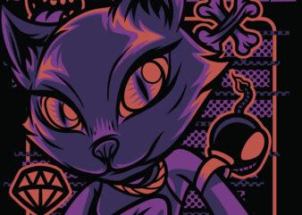 Scene Style Cats T-Shirt Design