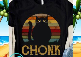Chonk Cat SVG, Cat SVG, Vintage SVG, Digital Download