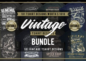 101 Vintage Tshirt Designs Bundle 3
