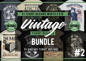 51 Vintage Tshirt Designs Bundle #3_2