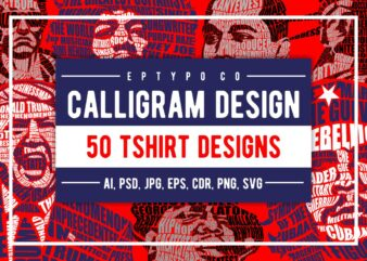 50 Calligram Tshirt Design Bundle #2