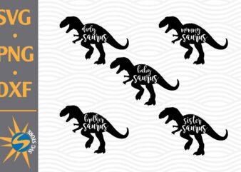 Family Saurus SVG, PNG, DXF Digital Files
