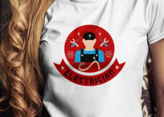Electrician T-Shirt Design, electrician T-Shirt Design, worker T-Shirt Design, Hard worker T-Shirt Design, Engineer T-Shirt Design