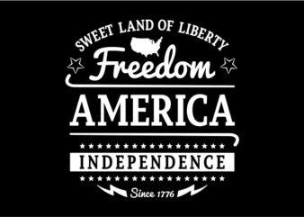 Typography American Themes – Freedom America