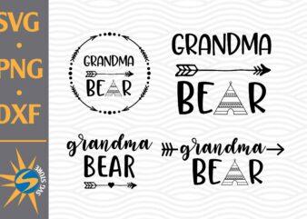 Grandma Bear SVG, PNG, DXF Digital Files