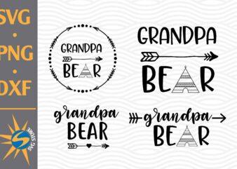 Grandpa Bear SVG, PNG, DXF Digital Files