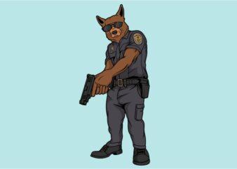 K9 Police Tshirt design