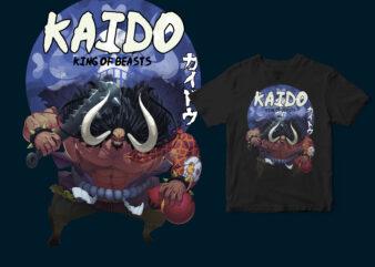KAIDO, ONE PEACE ANIME MANGA T-SHIRT DESIGN
