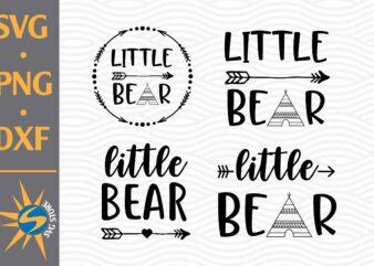 Little Bear SVG, PNG, DXF Digital Files