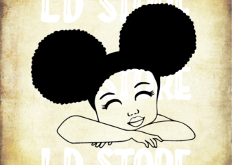 Cute Black Girl SVG, Black Girl SVG for Kids, Afro svg, Little Girl Svg, Strong svg, Powerful svg, Beautiful svg, Queen svg
