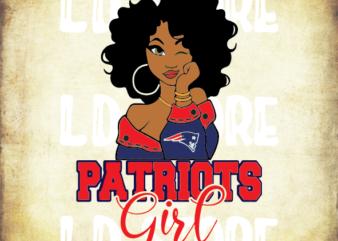 Patriots Girl Svg, Black woman svg, Sport NFL Svg, New England Patriots Svg, Powerful Svg, Beautiful svg, Queen svg